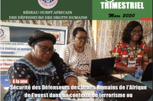Article : Réseau Ouest Africain des Défenseurs des Droits Humains-Bulletin Trimestriel